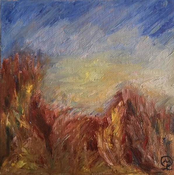 Barley Painting - The Barley Field by Therese Legere