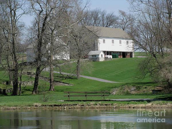 Tulpehocken Creek Photograph - The Barn Along The Tulpehocken by Donna Brown