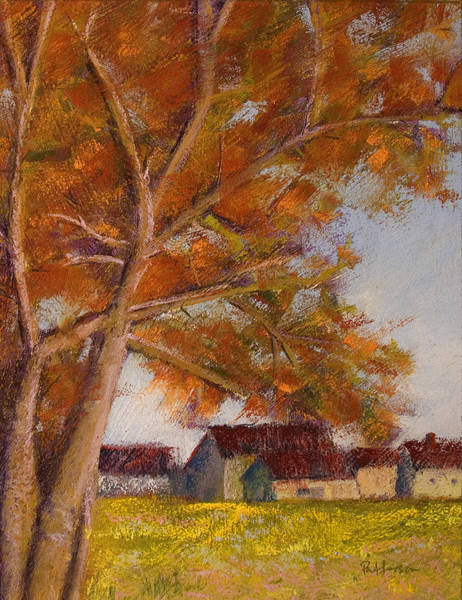 Painting - The Barns by David Patterson