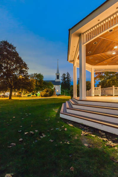 Photograph - The Baron Hugo Gazebo On The Ground Of Town Hall In Milton, Massachusetts by Brian MacLean