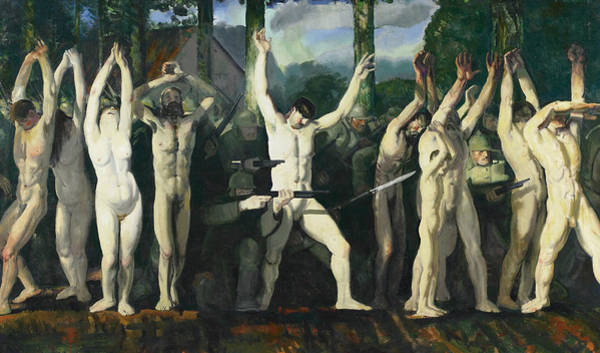 Painting - The Barricade by George Bellows