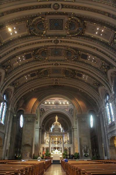 The Basilica Of Saint Mary Interior Art Print