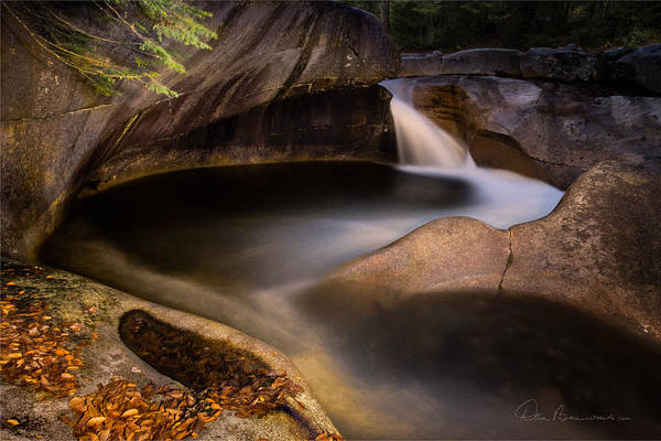 Photograph - The Basin At Franconia Notch 0111 by Dan Beauvais