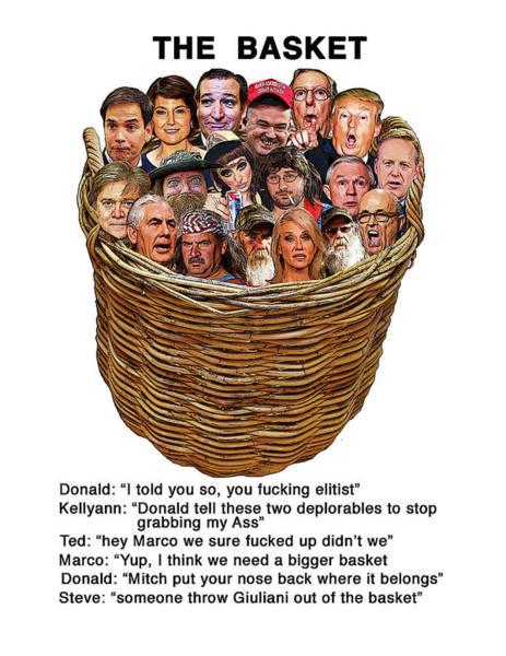 Trump Digital Art - The Basket  by Joe  Palermo