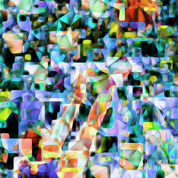 Photograph - The Basketball Jump Shot In Abstract Cubism 20170328 Square by Wingsdomain Art and Photography