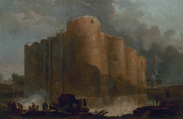 Demolition Wall Art - Painting - The Bastille In The First Days Of Its Demolition by Hubert Robert