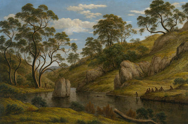 Aborigine Painting - The Bath Of Diana, Van Diemen's Land by John Glover