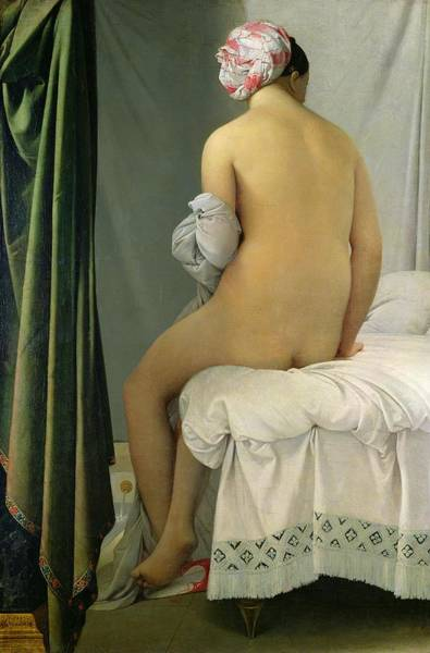 Back Painting - The Bather by Jean Auguste Dominique Ingres
