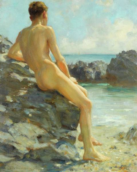 Painting - The Bather Of 1925 by Henry Scott Tuke