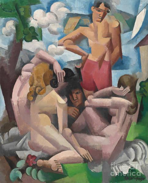 Sunbathing Painting - The Bathers, 1912 by Roger de La Fresnaye