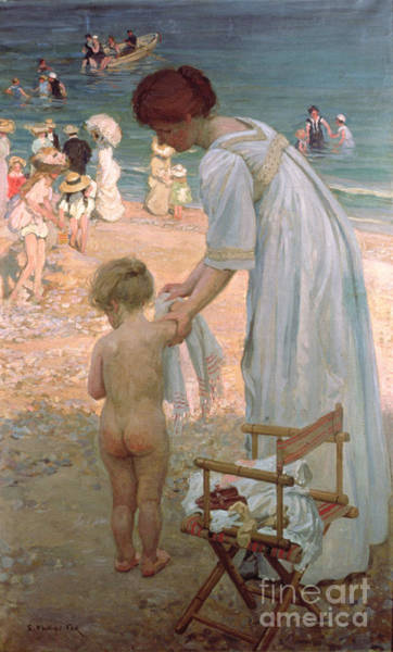 Sunday Painting - The Bathing Hour  by Emmanuel Phillips Fox