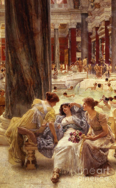 Couch Wall Art - Painting - The Baths Of Caracalla by Sir Lawrence Alma-Tadema