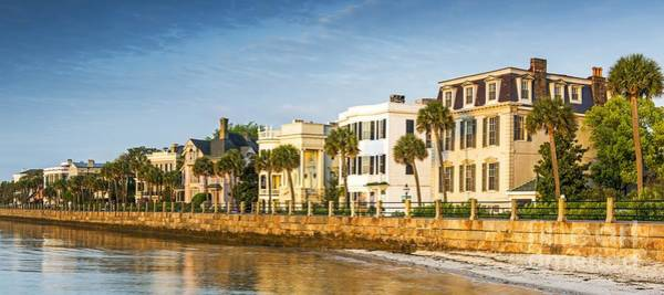 Low Battery Photograph - The Battery At Sunrise  Charleston Sc by Willie Harper