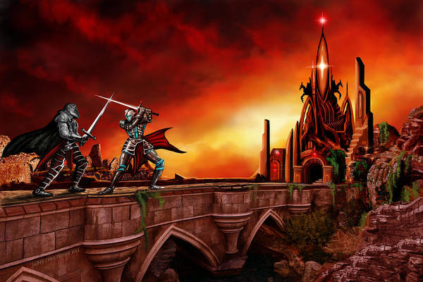 Wall Art - Painting - The Battle For The Crystal Castle by James Christopher Hill