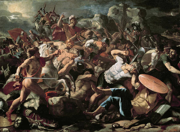 1665 Wall Art - Painting - The Battle by Nicolas Poussin