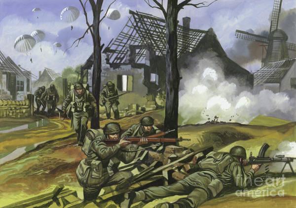 Poland Painting - The Battle Of Arnhem, September 1944 by Ron Embleton