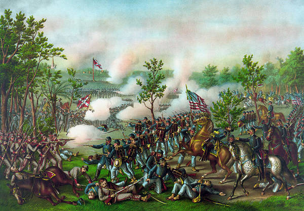 Confederate Generals Painting - The Battle Of Atlanta by War Is Hell Store