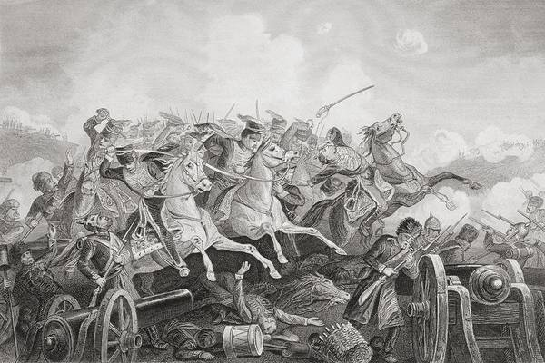 Brigade Drawing - The Battle Of Balaclava Haro Prii by Vintage Design Pics