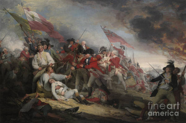 Major Painting - The Battle Of Bunker's Hill On June 17th 1775 by John Trumbull