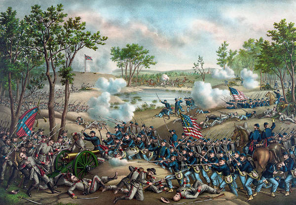 Battlefield Wall Art - Painting - The Battle Of Cold Harbor by War Is Hell Store