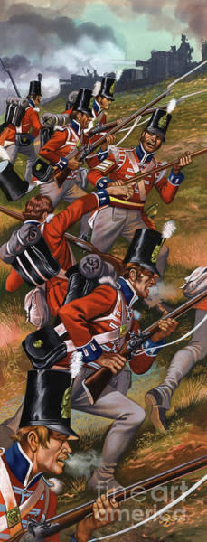 Wall Art - Painting - The Battle Of Corunna by Ron Embleton