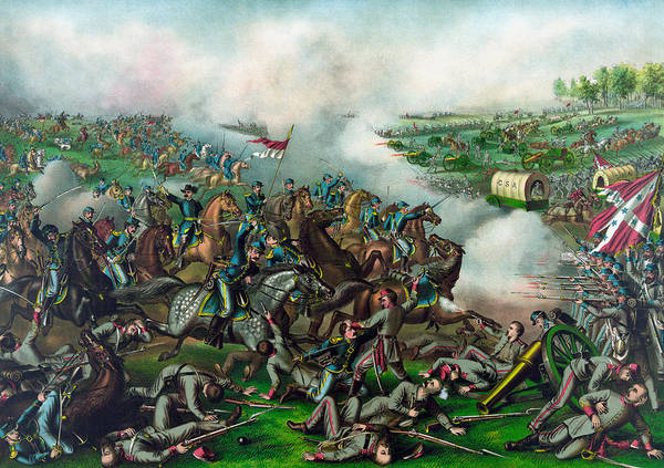 Campaign Painting - The Battle Of Five Forks by War Is Hell Store