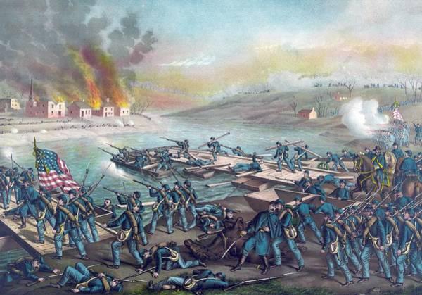 Fredericksburg Wall Art - Painting - The Battle Of Fredericksburg by American School