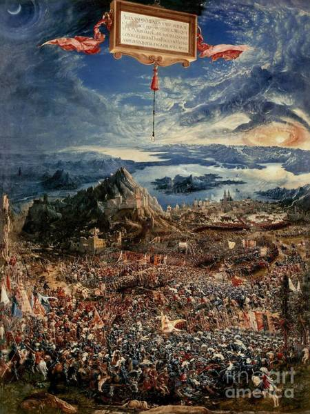 Victory Painting - The Battle Of Issus by Albrecht Altdorfer