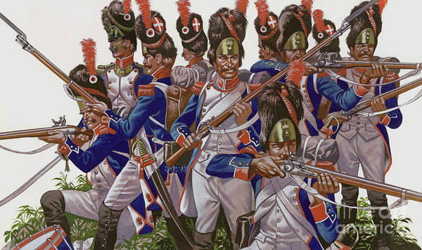 Wall Art - Painting - The Battle Of Jena, Grenadiers Of The French Imperial Guard by Ron Embleton