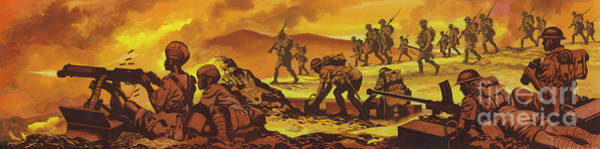 Wall Art - Painting - The Battle Of Keren by Ron Embleton
