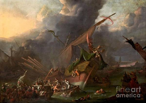 Wall Art - Painting - The Battle Of Lepanto by MotionAge Designs