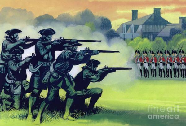 Wall Art - Painting - The Battle Of Lexington by Ron Embleton
