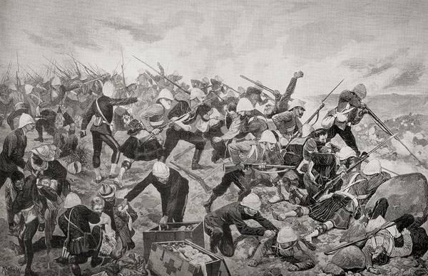 Wall Art - Drawing - The Battle Of Majuba Hill, Near by Vintage Design Pics