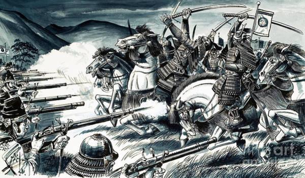 Samurai Painting - The Battle Of Nagashino In 1575 by Dan Escott