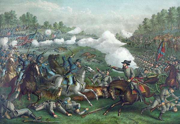 Campaign Painting - The Battle Of Opequan by American School