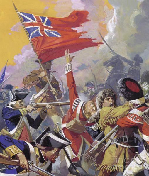 Wall Art - Painting - The Battle Of Saratoga by Severino Baldini