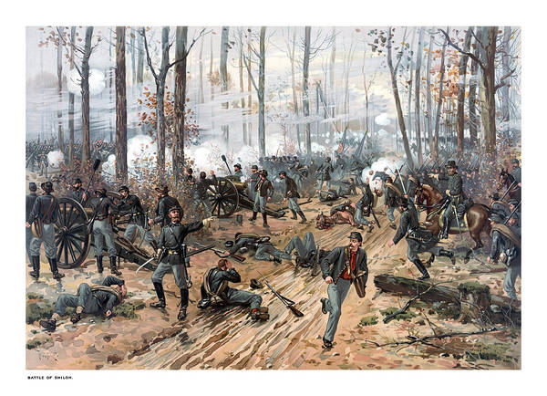 Civil War Wall Art - Painting - The Battle Of Shiloh by War Is Hell Store