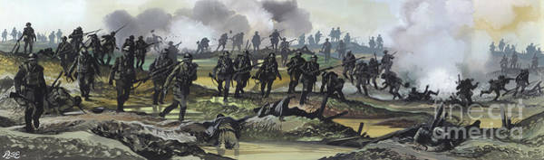 Wall Art - Painting - The Battle Of The Somme, 1916 by Ron Embleton