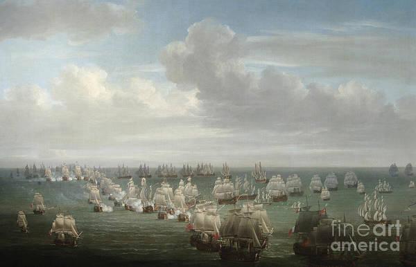 1805 Painting - The Battle Of Trafalgar by Nicholas Pocock