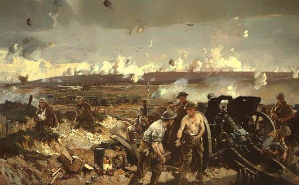 I Dream Painting - The Battle Of Vilmy Ridge by Mountain Dreams