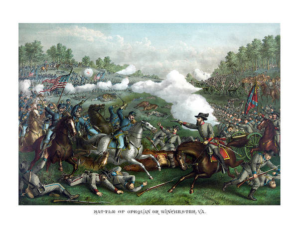 Civil War Wall Art - Painting - The Battle Of Winchester by War Is Hell Store