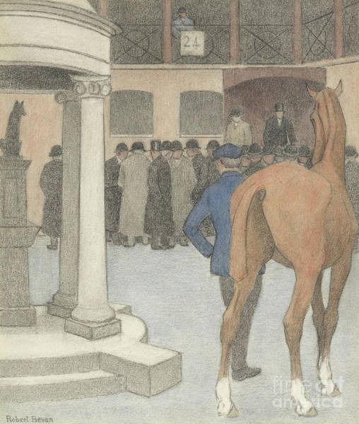 Wall Art - Painting - The Bayhorse, Tattersalls, 1921 by Robert Polhill Bevan