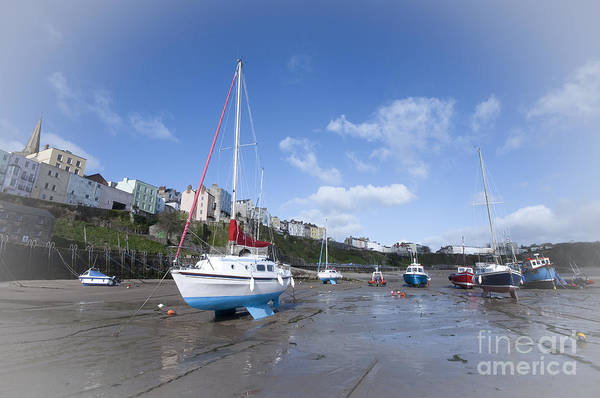 West Wales Photograph - The Beach And Boats At Tenby, Pembrokeshire, West Wales by Rob Hawkins