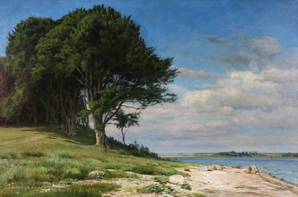 Painting - The Beach At Bramsaesvig, Zealand by Christian Zacho