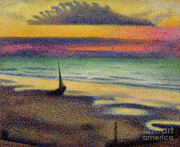 Modern Painting - The Beach At Heist by Georges Lemmen