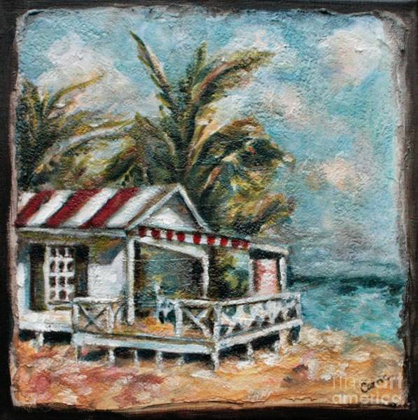 Palm Tree Mixed Media - The Beach by Carrie Joy Byrnes