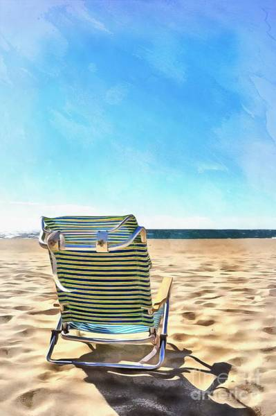 Photograph - The Beach Chair by Edward Fielding
