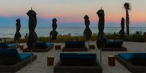 Photograph - The Beach Club At Sundown by Ed Gleichman