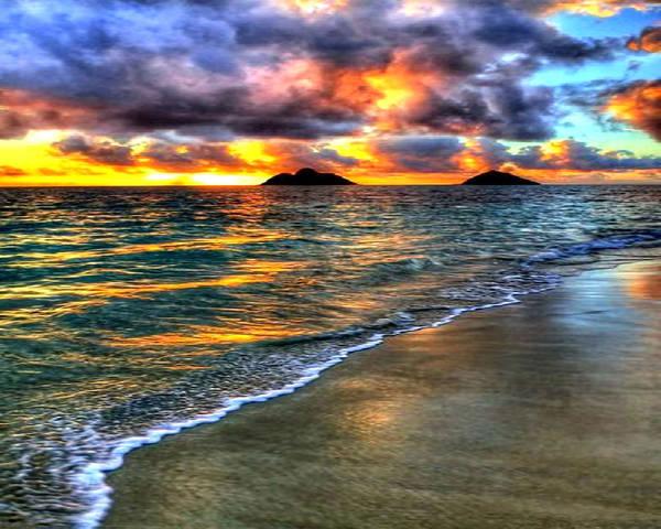 Photograph - The Beach by Digital Art Cafe