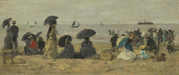 Wall Art - Painting - The Beach by Eugene Boudin